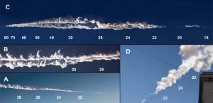 A robbanás keltette füstfelhő különböző magasságokban (kép: origo.hu-n keresztül Nature, Science)