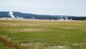 A Yellowstone-kaldera közepén... (Forrás: internet)