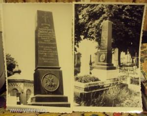 Skutéty síremléke az újaradi temetőben - régi képeslapokon