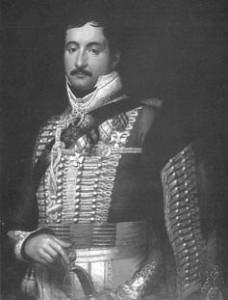 Simonyi József óberster a franciák elleni csatákban tűnt ki bravúrjaival