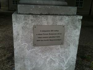 Oszlop ajándékba a Forum Romanumról (Forrás: internet)
