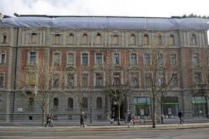 Az Andrássy út 83-85. szám alatt álló palota 2015 februárjában (Fotó: MTI)