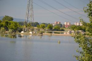 Dunakeszi látképe az ártértől