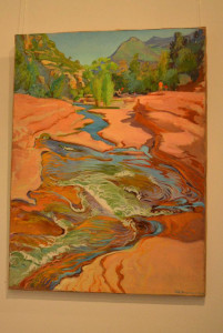 Arizona vörös sziklái között... (Breznay Pál festménye)