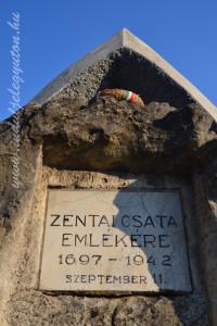 A zentai csata szerény emlékműve Zentán