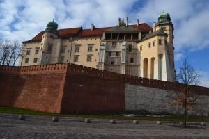 A Wawel 19. századi és 16. századi falai