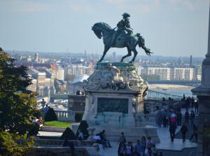 Savoyai Jenő herceg szobra a Budavári Palota előtt
