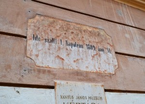 Napóleon ottjártának emléke a Bezedéry-házon
