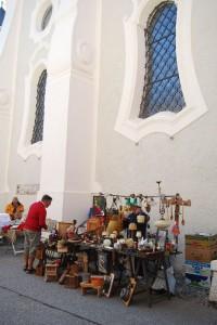 Szép sétát tettünk Innichen-ben (San Candido), ahol épp ünnep volt kirakodóvásárral, zenekarral...