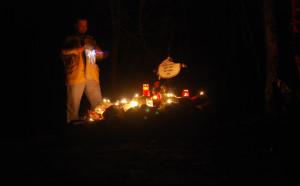 A Kitörés során elesett honvéd sírja 2011-ben  (Fotó: Harsáczki György)