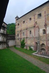A belső vár - egykor román stílusú bazilika volt...