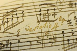 Így írt Mozart: a kézirat egy részlete (Forrás: vs.hu)