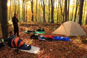 Reggel a táborban