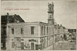 A régi Városháza - leégve 1911-ben (internet)