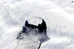 A Pine Island gleccseről legújabban levált jégmező (Forrás: origo.hu-n keresztül NASA)