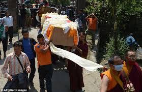 Serpa temetése Katmanduban (Forrás: internet)