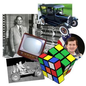 Ford T-modell, számítógép, TV, Excel, holdautó, Rubik-kocka