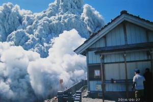 Izumi Noguchi felvétele, aki nem tudott elmenekülni a piroklasztikum-ár elől (Forrás: japantimes.co.jp)