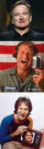 Amikor Theodore Rooseveltet játszotta, Cronauer a Jó reggelt Vietnám!-ban és az egy Úr az űrből-ben